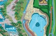 Mapa ilustrado Cascade Carolina SC