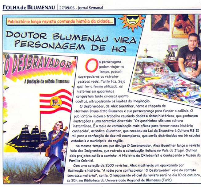 Dr Blumenau vira personagem de HQ