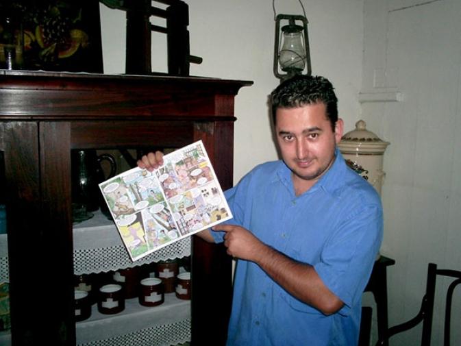Revista em quadrinhos do Museu da Família Colonial de Blumenau