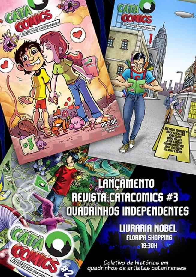 Reportagem Revista em Quadrinhos Catacomics 3 - Blumenau é 10